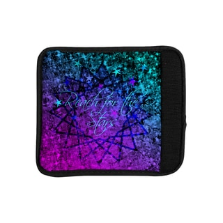 KESS InHouse Ebi Emporium 'Reach For The Stars' Pink Teal Luggage Handle Wrap