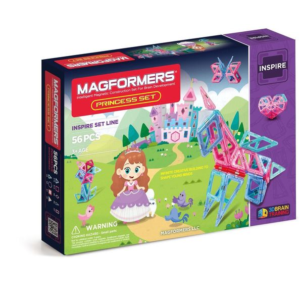 Magformers Princess Multicolor Plastic 56-piece Set