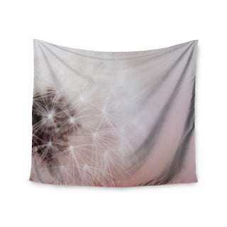 KESS InHouse Chelsea Victoria 'Dandelion Dreams' Floral White 51x60-inch Tapestry