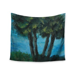 KESS InHouse Cyndi Steen 'Twin Palms' Blue Green 51x60-inch Tapestry