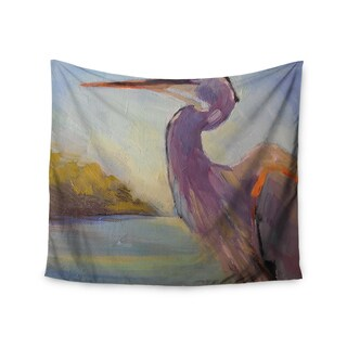 KESS InHouse Carol Schiff 'Tropical Sentry' Lavender Animals 51x60-inch Tapestry