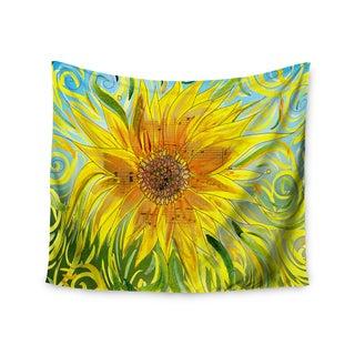KESS InHouse Catherine Holcombe 'Syaured' Yellow Green 51x60-inch Tapestry
