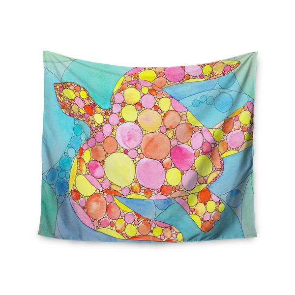 KESS InHouse Catherine Holcombe 'Circle Turtle' Yellow Orange 51x60-inch Tapestry