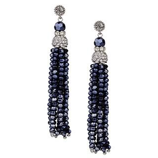 Handmade Saachi Long Beaded Tassel Earrings (China)