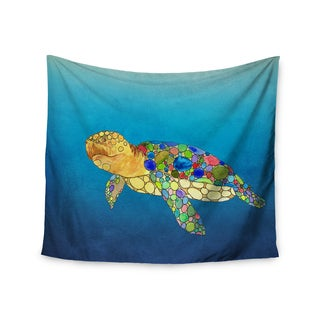 KESS InHouse Catherine Holcombe 'Bubbles' Blue Turtle 51x60-inch Tapestry