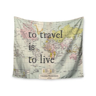 KESS InHouse Catherine Holcombe 'To Travel Is To Live' Color Map 51x60-inch Tapestry