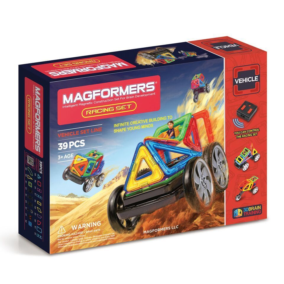 Magformers Magformer Racing Multicolor Plastic 39-piece S...