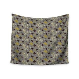 KESS InHouse Mayacoa Studio 'Fall Leaves' Gray Floral 51x60-inch Tapestry