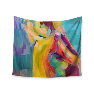 KESS InHouse Cecibd 'Turquesa' Abstract Teal 51x60-inch Tapestry