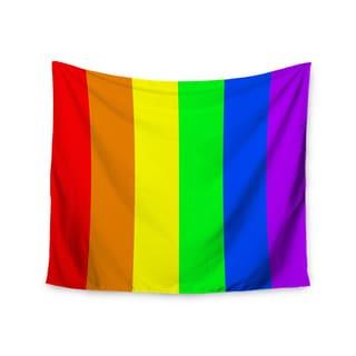 KESS InHouse Bruce Stanfield 'Rainbow' Stripes Digital 51x60-inch Tapestry