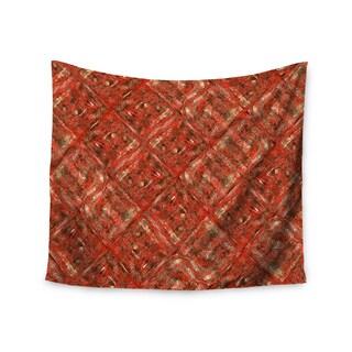 "Kess InHouse Bruce Stanfield ""Malica"" Red Orange Coasters (Set of 4) 4""x 4"""