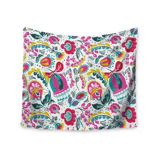 "Kess InHouse Agnes Schugardt ""Folk In The Field"" Floral Pattrern Wall Tapestry 51'' x 60''"