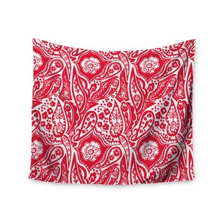 """Kess InHouse Agnes Schugardt """"Paisley"""" Paisley Red Wall Tapestry 51'' x 60''"""