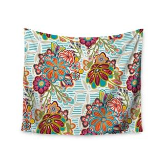 "Kess InHouse Agnes Schugardt ""Kimono Floral"" Floral Pattern Wall Tapestry 51'' x 60''"
