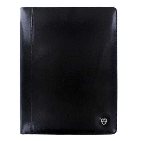 Armiger Executive Black Bonded Leather Professional Padfolio With Letter Size Notepad