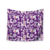 "Kess InHouse Agnes Schugardt ""The Tribe"" Purple Tribe Wall Tapestry 51'' x 60''"