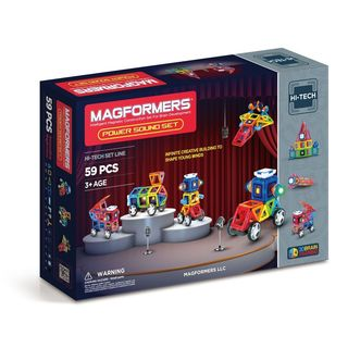 Magformers Power Sound Multicolor Plastic 59-piece Set