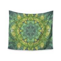 "Kess InHouse Art Love Passion ""Fairy Mandala"" Green Yellow Wall Tapestry 51'' x 60''"