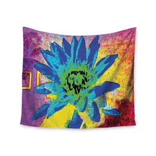 "Kess InHouse Anne LaBrie ""Wild Lotus"" Blue Flower Wall Tapestry 51'' x 60''"
