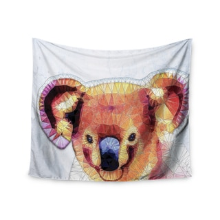 "Kess InHouse Ancello ""Cute Koala"" Orange Pink Wall Tapestry 51'' x 60''"