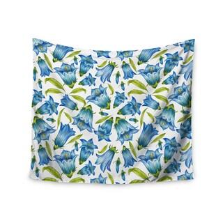 "Kess InHouse Alisa Drukman ""Campanula"" Floral Blue Wall Tapestry 51'' x 60''"