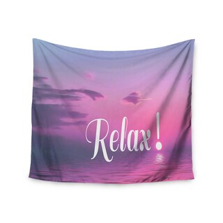 KESS InHouse Alison Coxon 'Relax' Pink Typography 51x60-inch Tapestry