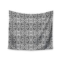 "Kess InHouse Mydeas ""Fancy Damask Black & White"" Gray Wall Tapestry 51'' x 60''"