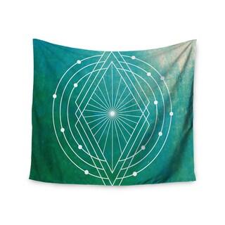 KESS InHouse Matt Eklund 'Atlantis' Teal Geometric 51x60-inch Tapestry