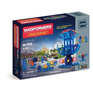 Magformers Power Gear Multicolor Plastic 60-piece Set