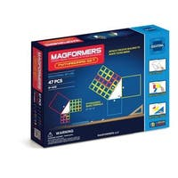 Magformers Pythagoras Multicolored Plastic 47-piece Magnetic Set