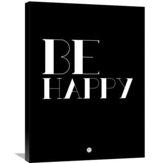 Naxart Studio 'Be Happy Poster 3' Stretched Canvas Wall Art