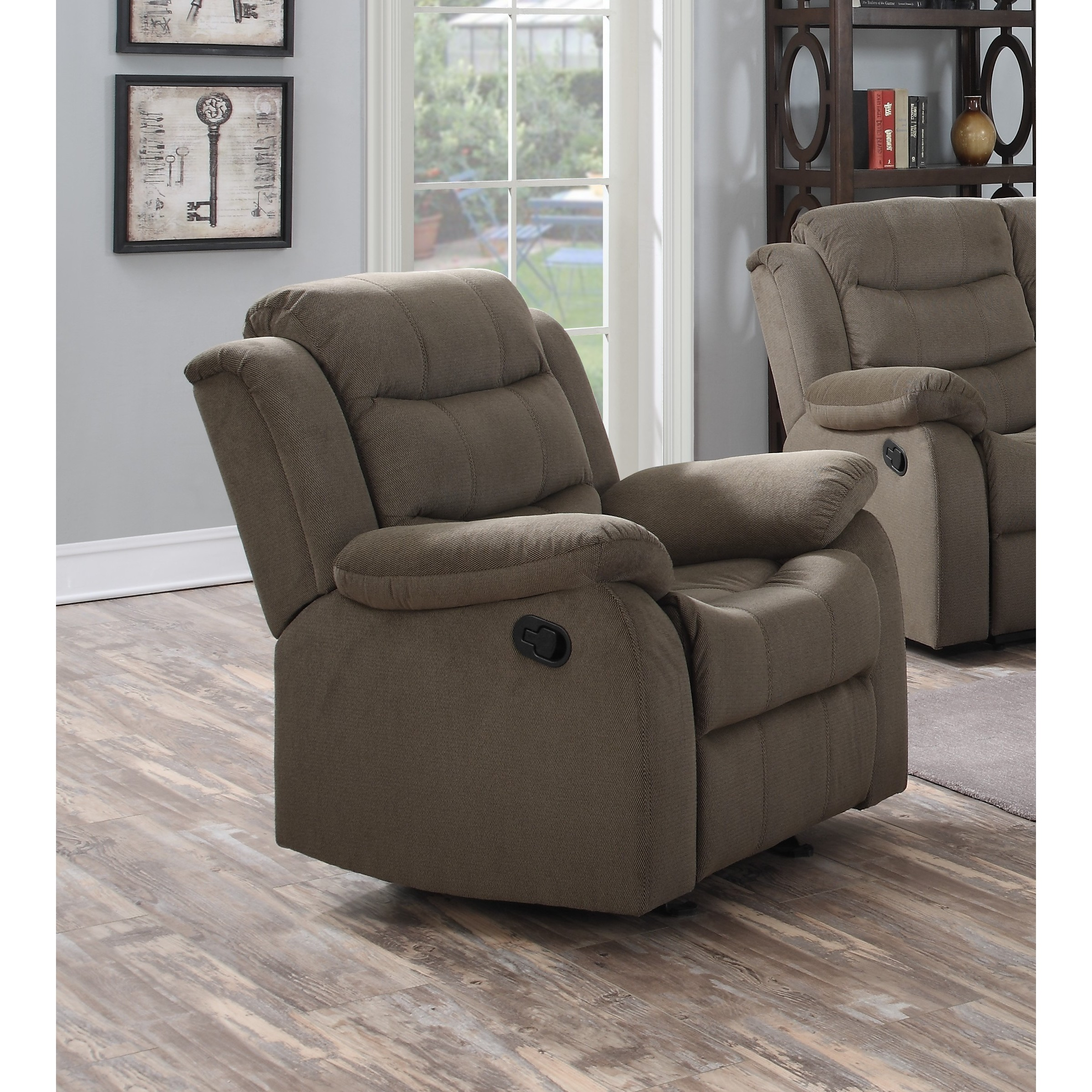 Lyke Home Carter Polyester Glider Chair (Taupe), Beige, S...