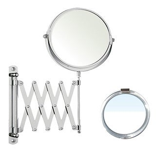 Silver Round Wall-mount Mirror