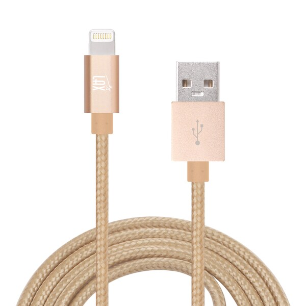 LAX Apple MFi Certified Lightning to USB Charge Sync 10-foot Cable for iPhone 6s/6 SE/5s/5C/5 and iPad Pro Air Mini 2/3/4