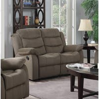 LYKE Home Carter Grey/ Beige/ Brown Polyester Loveseat