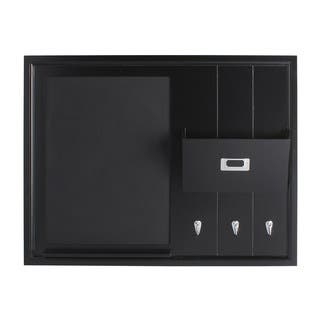 DesignOvation Dagny Wood Home Organizer with Chalkboard, Mail Holder, and Hooks|https://ak1.ostkcdn.com/images/products/12108020/P18969797.jpg?impolicy=medium