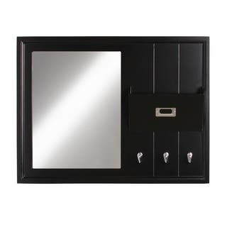 DesignOvation Dagny White/Black Wood Home Organizer with Mirror|https://ak1.ostkcdn.com/images/products/12108031/P18969812.jpg?impolicy=medium