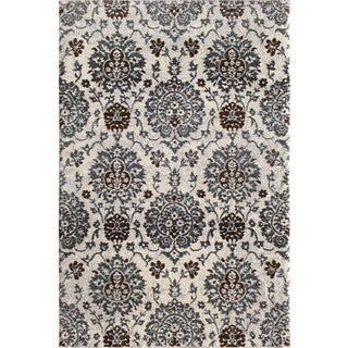 Christopher Knight Home Vienna Lysandra Floral Snow Rug (8' x 10')