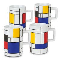 Waechtersbach 'Homage to Mondrian' Mugs (Set of 4)