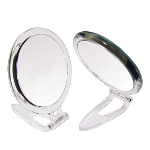 Hand Held Foldable 1x/10x Magnification Mirror
