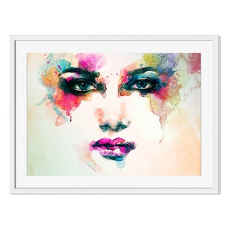Anna Ismagilova 'Abstract Woman Watercolor Portrait 'Framed Paper