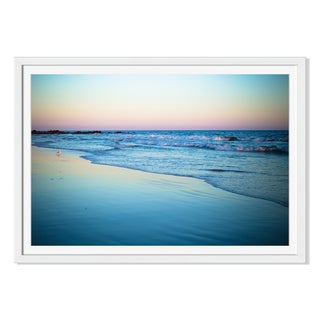 Littleny 'Ocean Shoreline At Sunset 'Framed Paper