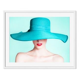 Kieferpix 'Woman Wearing Fashion Hat 'Framed Paper