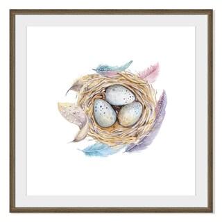 Kris Art 'Bird Nest With Eggs 'Framed Paper