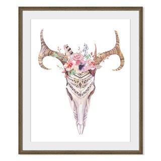 Kris Art 'Boho Deer Skull I 'Framed Paper