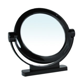 Black Large 1x/5x Magnification Stand Mirror