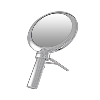 Handheld 1x/10x Magnification Round Mirror with Stand