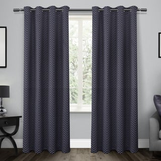 ATI Home Chevron Thermal Woven Blackout Grommet Top Curtain Panel Pair