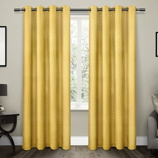 ATI Home Chevron Thermal Blackout Curtain Panel Pair with Grommet Top