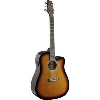 Stagg SA40DCFI-BS Brown Sunburst Dreadnought Cutaway Acoustic-electric Concert Guitar